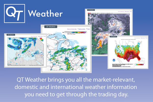 QT Weather. QT Weather brings you all the market-relevant, domestic and international weather information you need to get through the trading day.